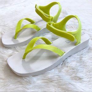 MELISSA Sporty Yellow Platform Ankle Strap Sandal